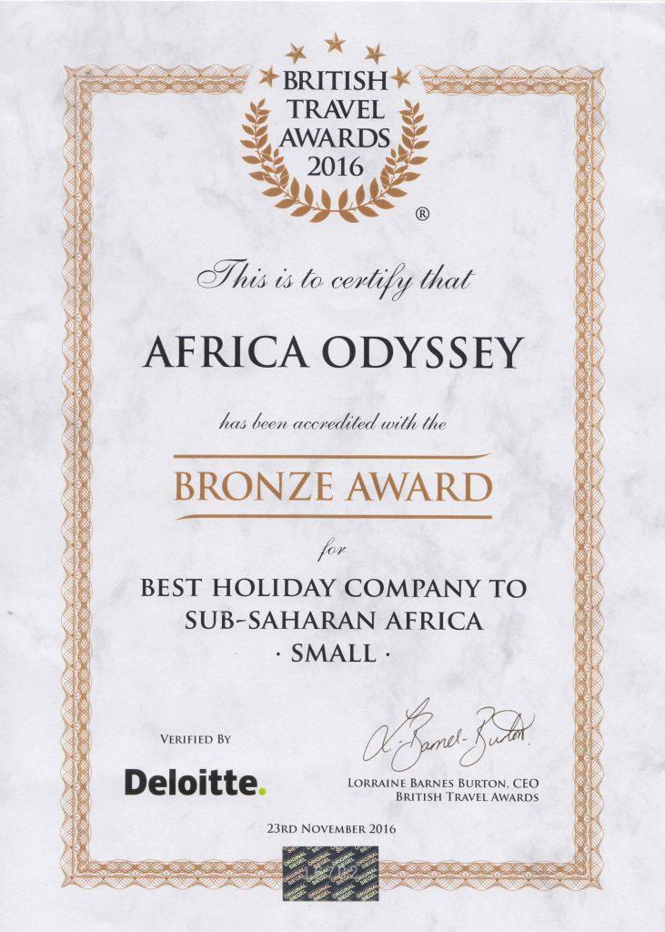 British Travel Awards   Weve won again !