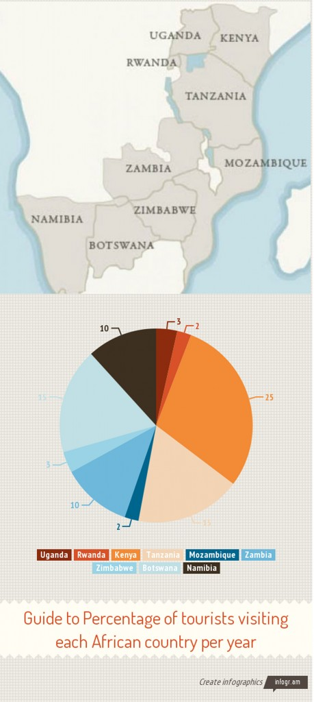 Safari tourist numbers infographic