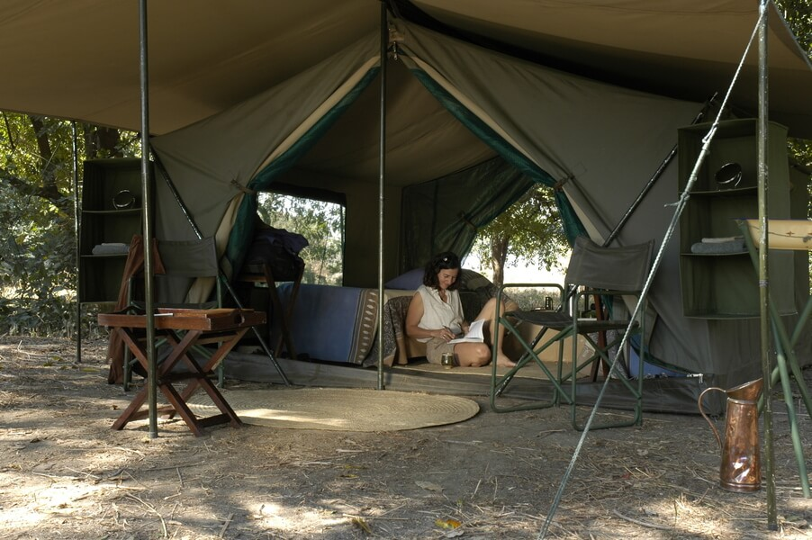 Walking Safari Tent Accommodation at Robin Pope Safaris
