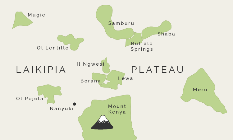Map of The Central Plateau